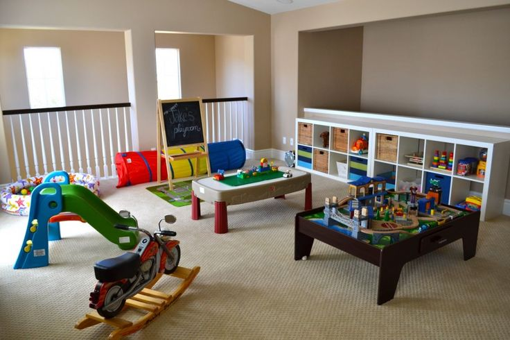 Playroom Layout Ideas | ... design basement playroom ideas : The Boys Design Basement Playroom.Everything is low and easy for a toddler to reach