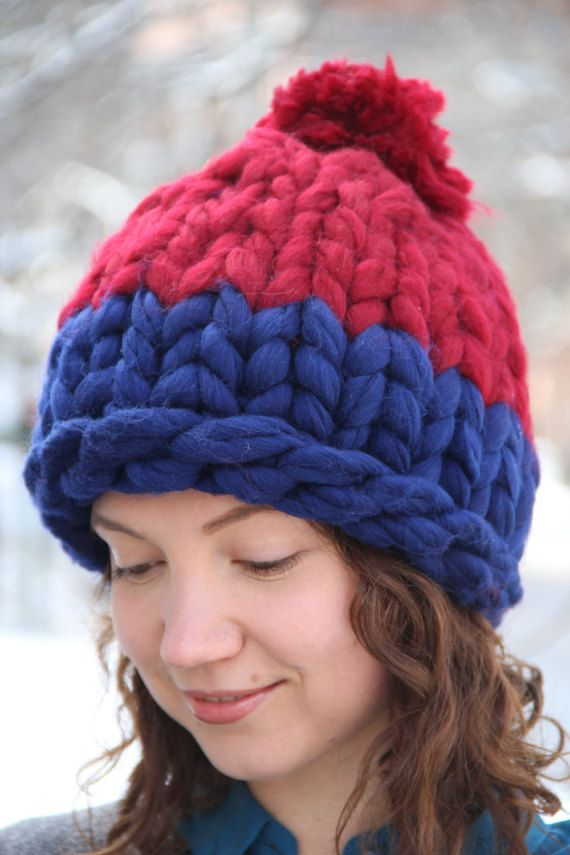 Stay warm and cozy with this super chunky wool hat. So soft and silky!   #wine #red #navy #blue #winter #hat #cute #warm #closeup #shot