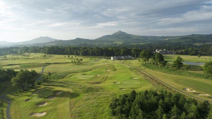 Hit the fairways at Powerscourt Golf Club #Ireland #golf #Wicklow #GardenOfIreland