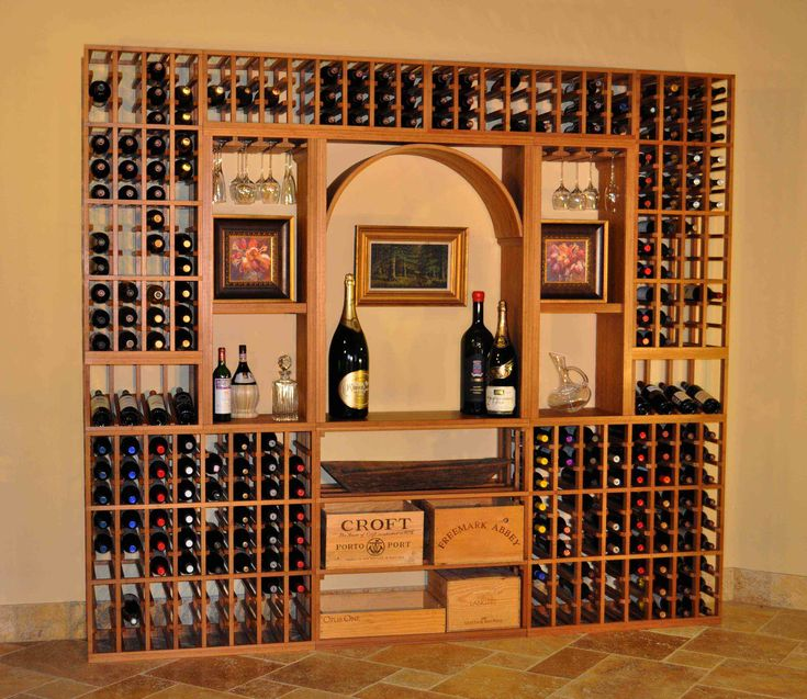 Beautiful wine rack idea