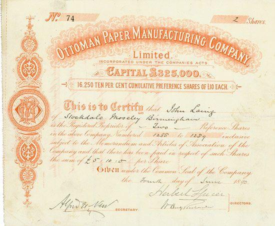 58 best Scripophily Asia - Historische Wertpapiere aus Asien - company share certificates