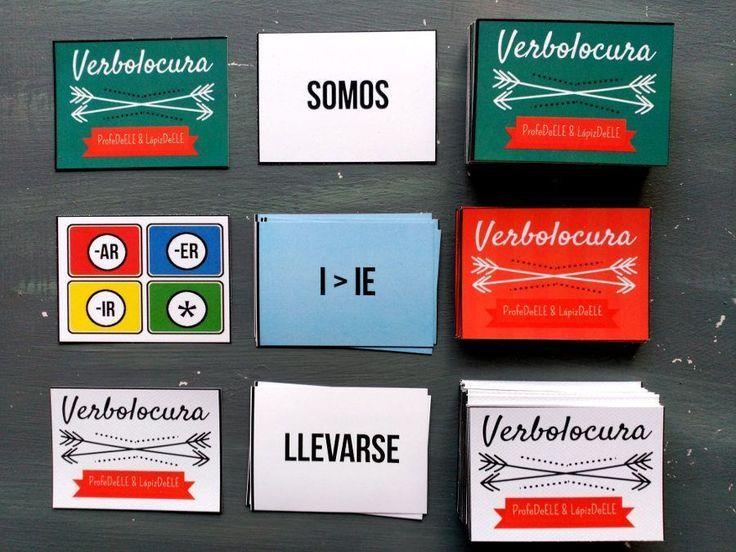 Verbolocura es un juego de cartas para practicar los verbos con multitud de posibilidades para el aula de ELE.