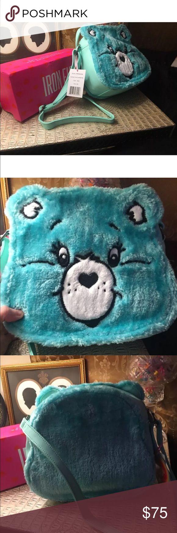 Iron fist care bear mint green handbag crossover Iron fist care bear mint green crossover purse new with tags no box Iron Fist Bags Crossbody Bags