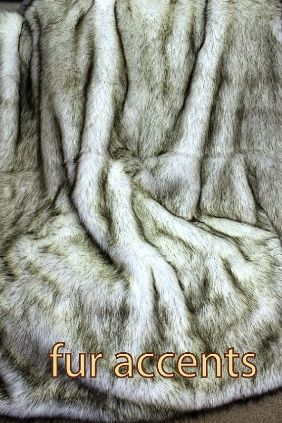70 Russian Wolf Alaskan Huskie Faux Fur Throw Blanket Accent Rug Realistic Fake Hide Soft Plush New Inspirations Pinterest