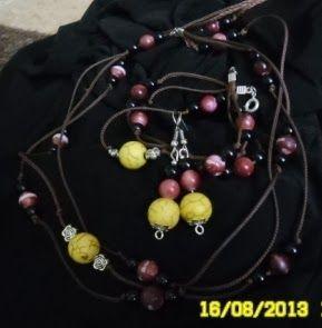 Moje asylium: Komplet biżuterii - kolczyki, bransoleta, naszyjni...