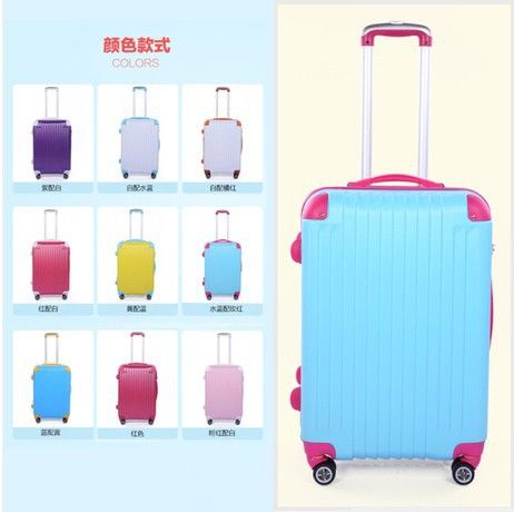 Find More Information about 2014 Hot Color block luggage trolley ,Personalized universal wheels trolley luggage men suitcase women travel bags function bags,High Quality luggage bags usa,China luggage bag Suppliers, Cheap luggage bags price from Oscar life store on Aliexpress.com
