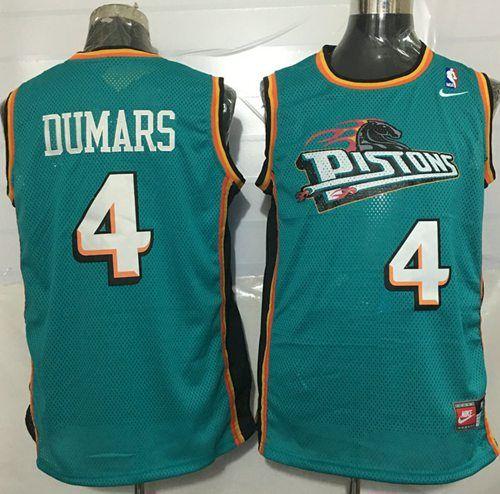 #Pistons #4 Joe #Dumars Green Nike Throwback #StitchedNBAJersey