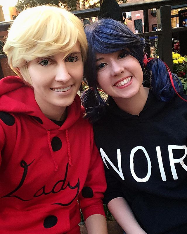 Cosplayaway and Thealchemicfox as casual cosplay Adrien and Marinette
