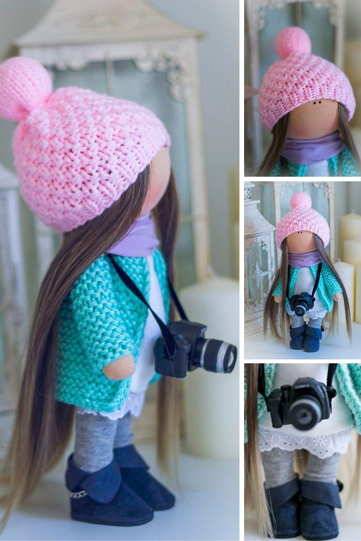 Textile doll, Tilda doll, Baby doll, Cloth doll handmade