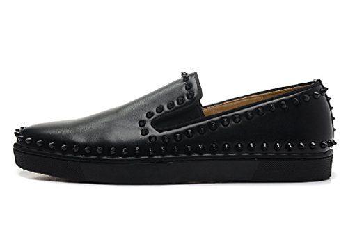 Men Pik Boat Black Spiked Flats Sneakers (US 8 / 41 EUR, ... https://www.amazon.com/dp/B06Y12J4LZ/ref=cm_sw_r_pi_dp_x_cBggzb2AJEBV8