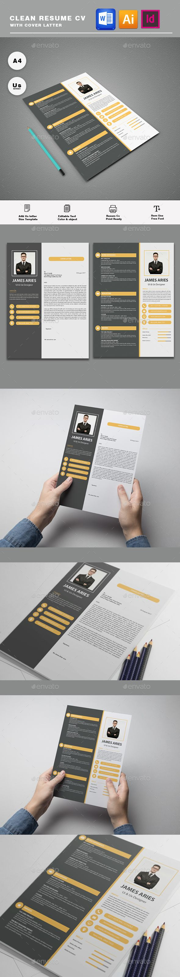 Resume #cv #professional  • Download here → https://graphicriver.net/item/resume/20888956?ref=pxcr
