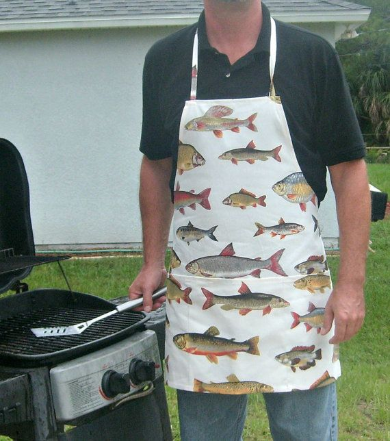 Catch & Cook Fish Variety Full Apron by sewlittletime2009 on Etsy, $15.00