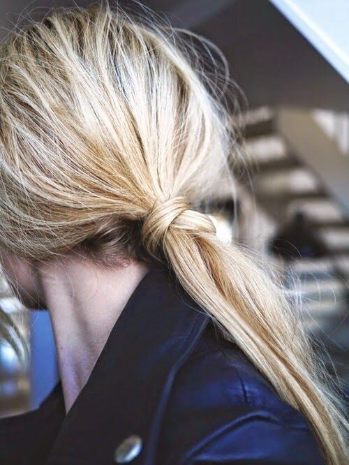 No need for a ponytail with this chic look.