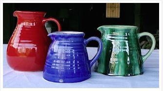 Jarras en cerámica esmaltada