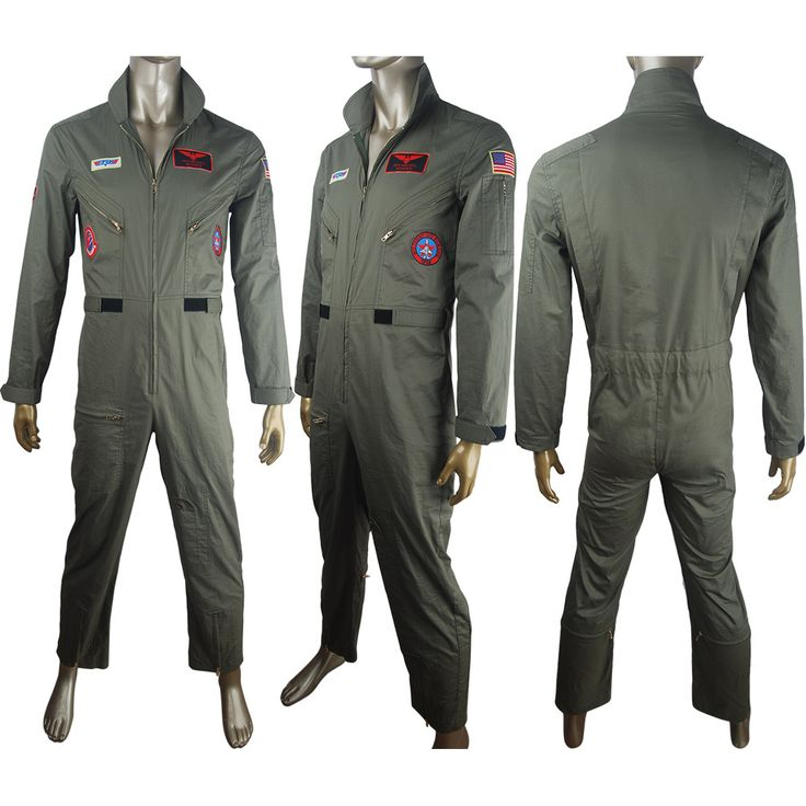Kids adults Top Gun Aviator Uniform Costume Pilot Flight Viper Pete Maverick Film Suit halloween costume