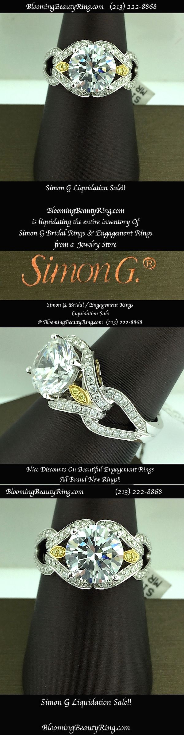 Simon G Engagement Ring Clearance Sale
