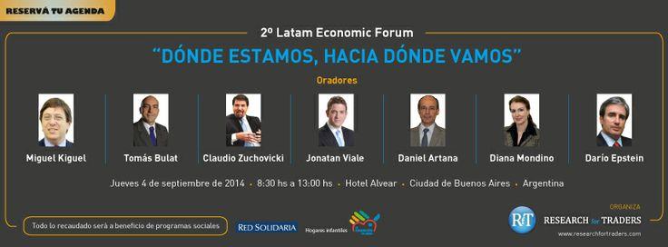 Reservá tu agenda para el LatAm Economic Forum 2014