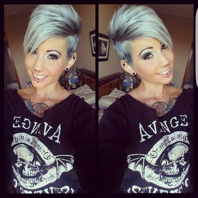 Magnifiques Couleurs Pour Cheveux Courts hair grey