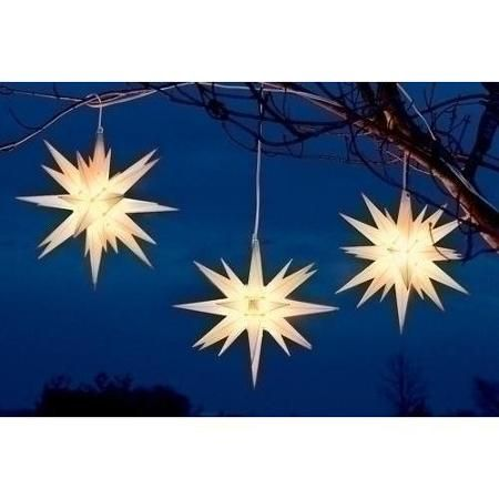 "14"" White Moravian Star Hanging Christmas Light"