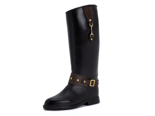 $99 Equestrian Horsebit Rainboot by Dav from GLAMOUR on OpenSky