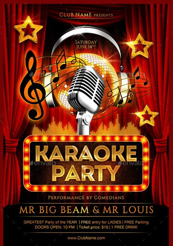 Free Karaoke Flyer Templates Karaoke Poster Template Free Free