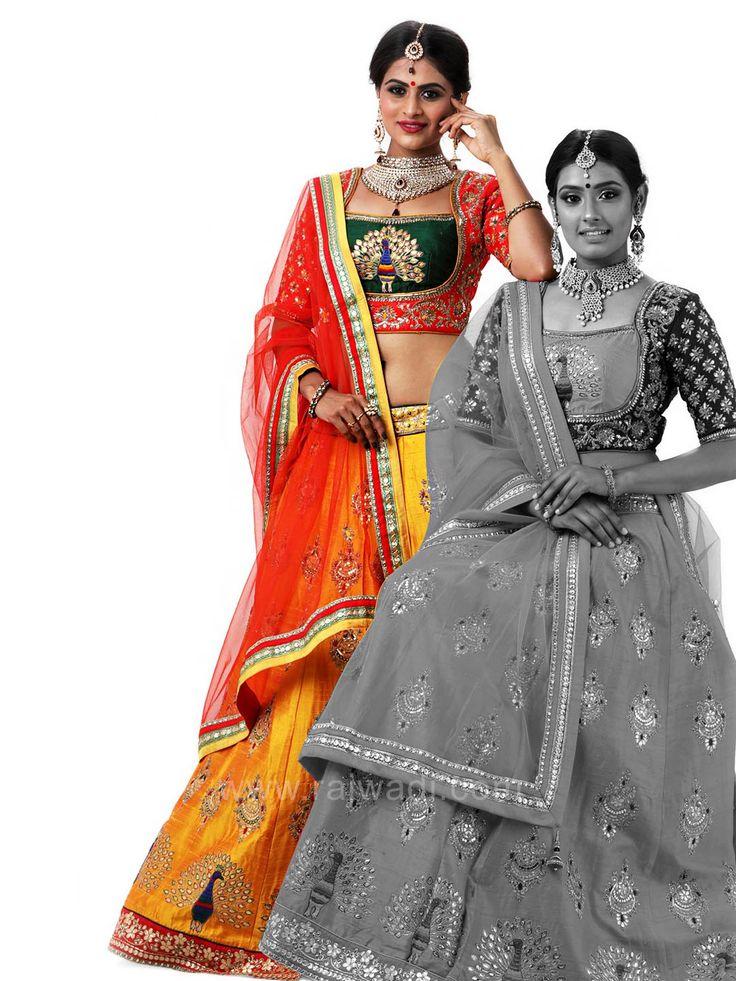 Wedding Peacock Embroidered Choli Suit #rajwadi #cholisuit #readycholi #lehengas #embroidered #FeelRoyal #bridal #colorful