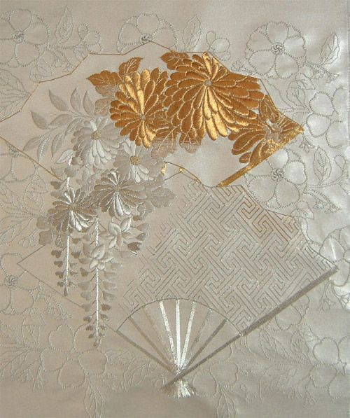 Japanese embroidery - A beautiful work stitched by a UK teacher