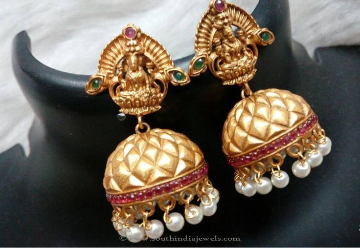 Gold Plated Temple Jhumka Earrings, Temple Jhumka Earrings Designs, Imitation Temple Jhumka Earrings.