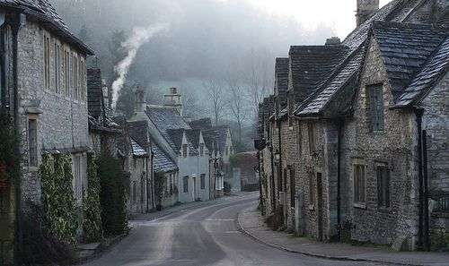Castle Combe, Wiltshire. On a misty frosty morning by Peter Hulance, via Flickr