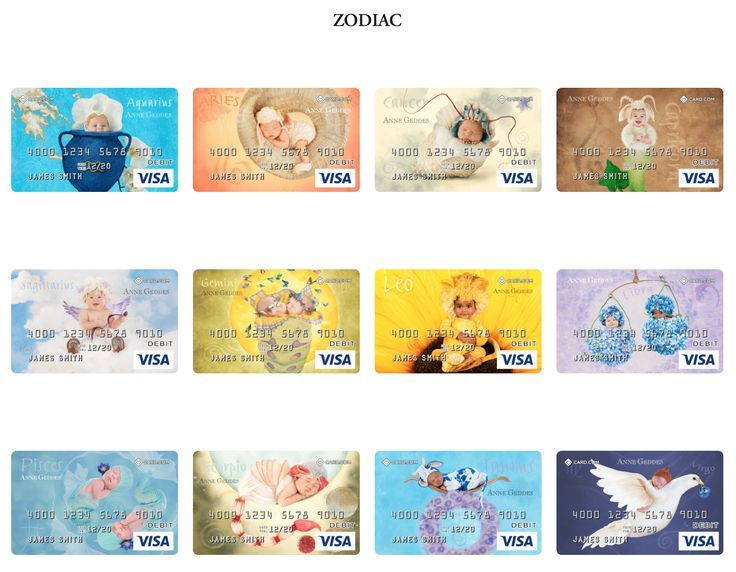 Check out these amazing zodiac designed prepaid visa cards by @AnneGeddes.   Sagittarius season is upon us... what