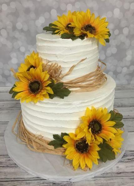 Sunflower Cupcake Tower #cupcakes #cupcaketower #