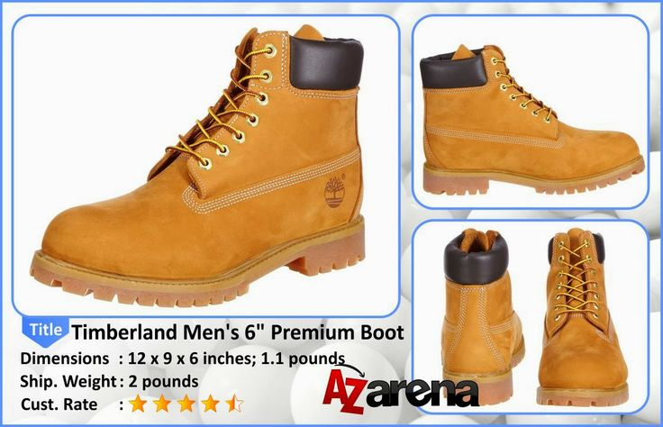 """Timberland Men's 6"""" Premium Boot Review   There's just no substitute for a sturdy, guaranteed waterproof boot to keep feet comfortable and dry, rain or shine. And Timberland has been making this one since they opened their doors more than thirty years ago. Rugged and dependable, they like to think of it as the role model for everything they make today."""