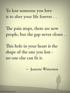 Grief. This is wrong. The pain never stops. It shrieks endlessly in your head and heart. And it's a big Fuckin hole.