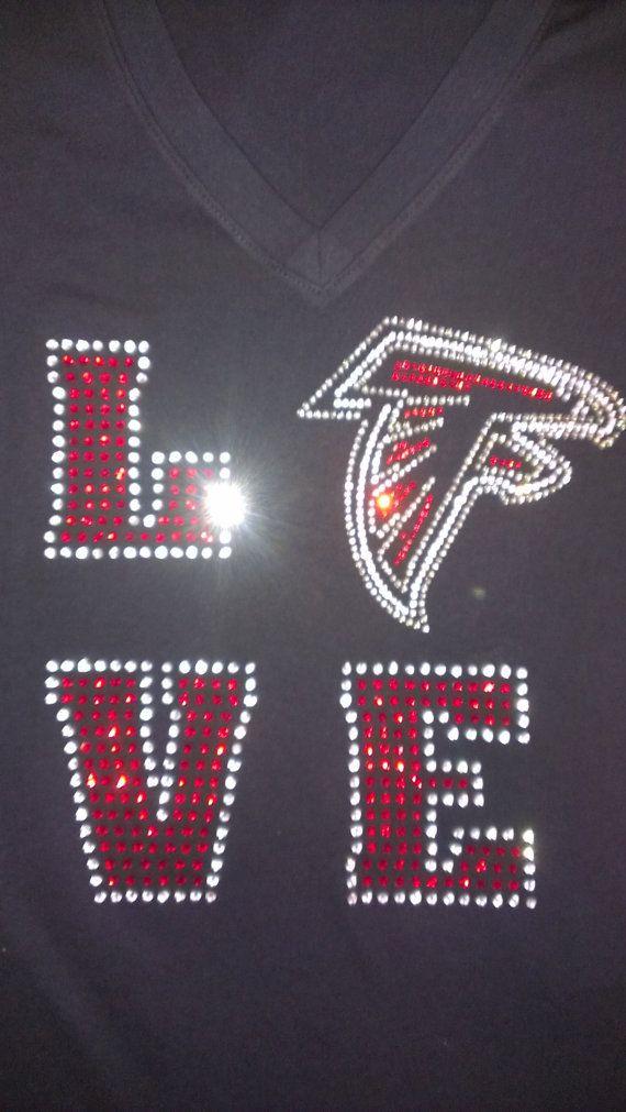 the latest dad53 a2dd7 atlanta falcons bling jersey