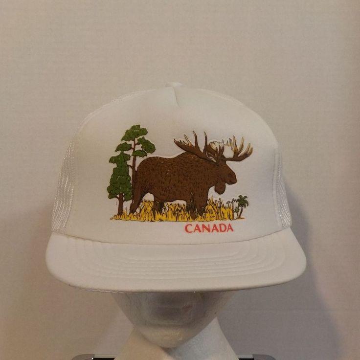 Canada Moose Vintage Baseball Truckers Hat Cap #Canada #BaseballCap