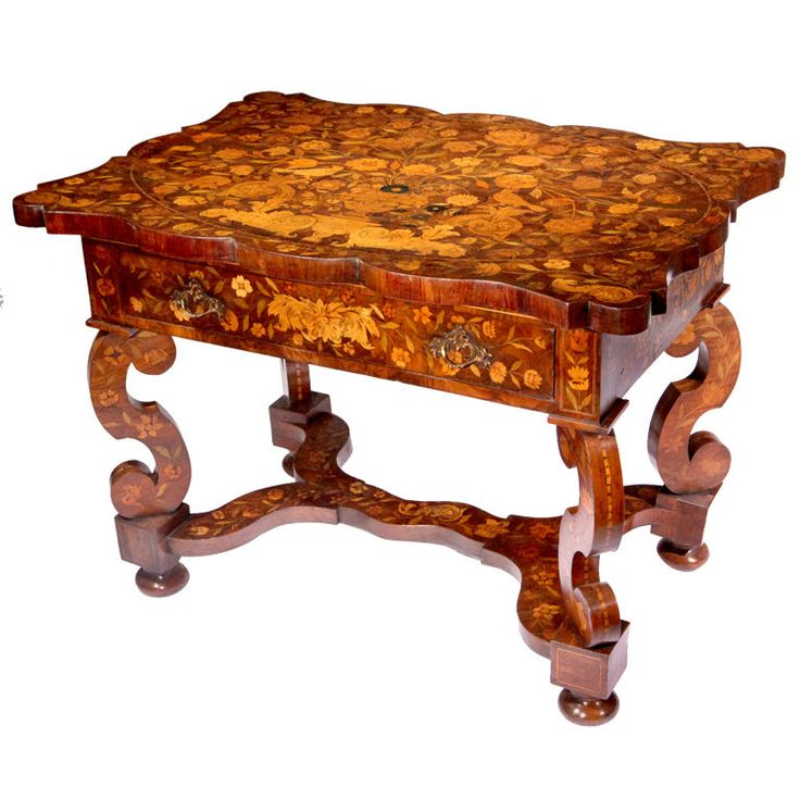 Rare 18th Century Dutch Marquetry Table  Netherlands  circa 1780