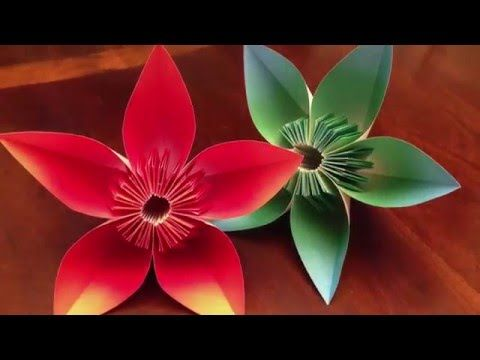 How to make a Kusudama Paper Flower | Easy origami Kusudama for beginners making | DIY-Paper Crafts - YouTube