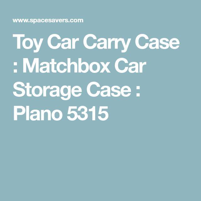 Toy Car Carry Case : Matchbox Car Storage Case : Plano 5315