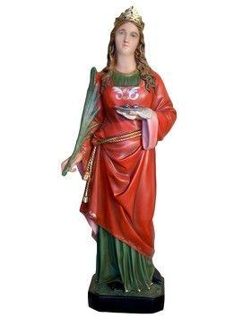 Statua S. Lucia cm. 107 altezza cm. 107 in resina vuota disponibile anche in vetroresina dipinta con colori acrilici e finiture ad olio disponibile anche con occhi di vetro La statua di Santa Lucia è disponibile al seguente link http://www.ovunqueproteggimi.com/collezione-statue/sante/lucia/