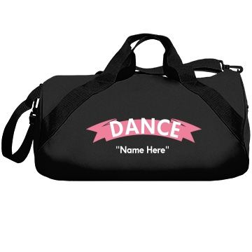 Dance       Personalize this dance bag.