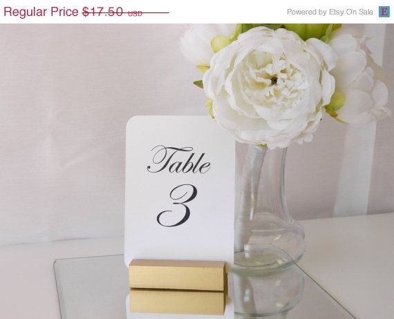 Table Number  Gold Table Number Holders Set of 10 by Gallery360