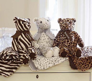Animal Print Bear Plush #PotteryBarnKids #pinparty