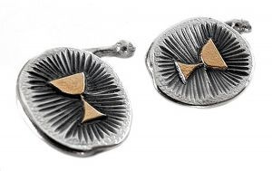 Chalice cufflinks in sterling silver and gold plate - $270