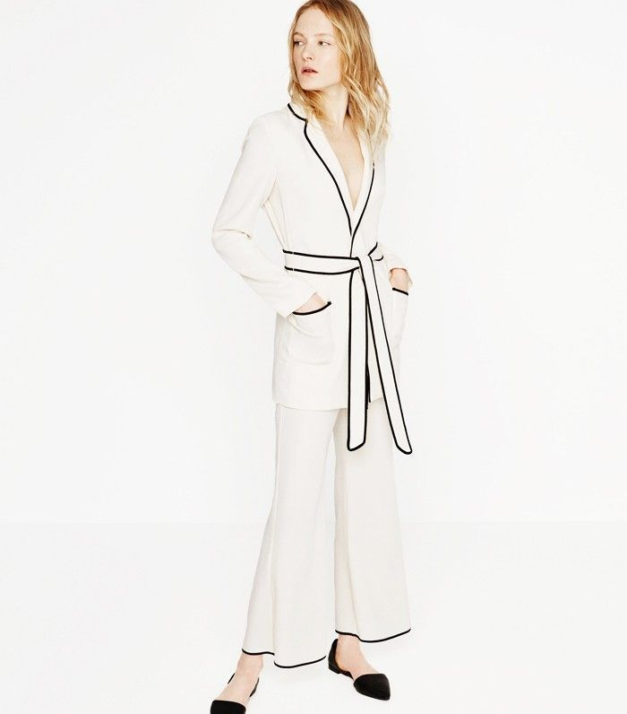 Olivia Palermo Wore the White Zara Suit Everyone's After via @WhoWhatWearUK