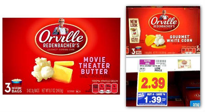 Orville Redenbacher's Popcorn, Only $0.64 at Kroger! Thru 12/16.