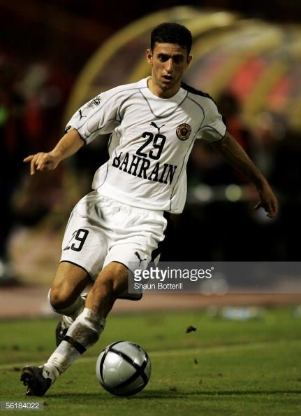 Mohamed Ahmed Hubail of Bahrain in action during the FIFA 2006 World Cup Playoff First Leg match between Trinidad Tobago and Bahrain at the Hasley...