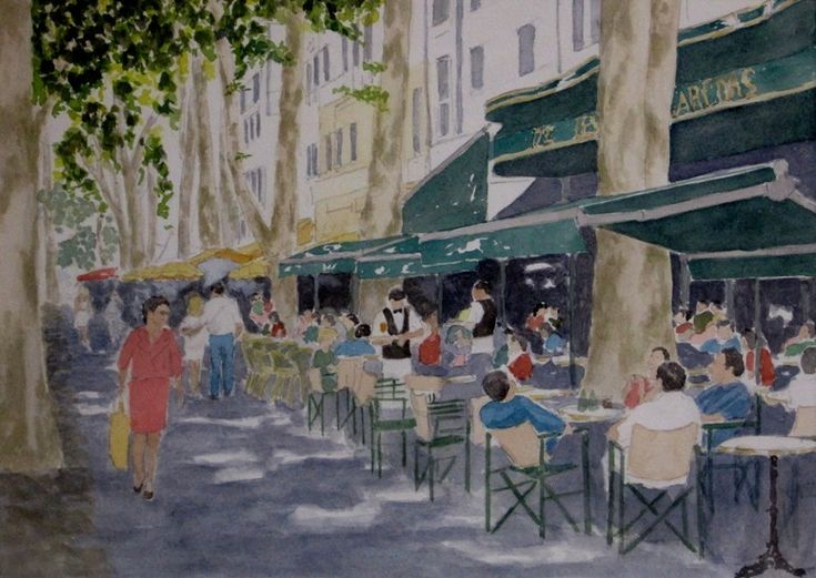 Cours de mirabeau aix en provence gouache eduard de for Aix en provence cours de cuisine