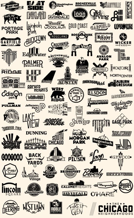 The Chicago Neighborhoods - Steve Shanabruch Graphic Design | Chicago, IL