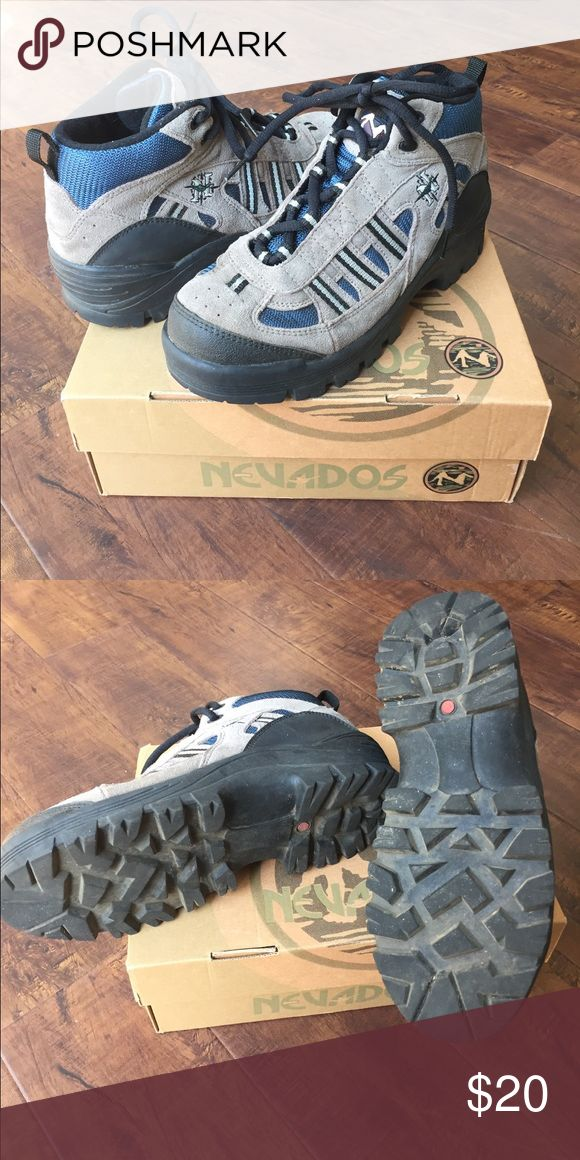 Nevados Hiking Boots Great condition, worn only twice. Color is stone gray and blue with black trim and laces. Nevados Shoes Athletic Shoes