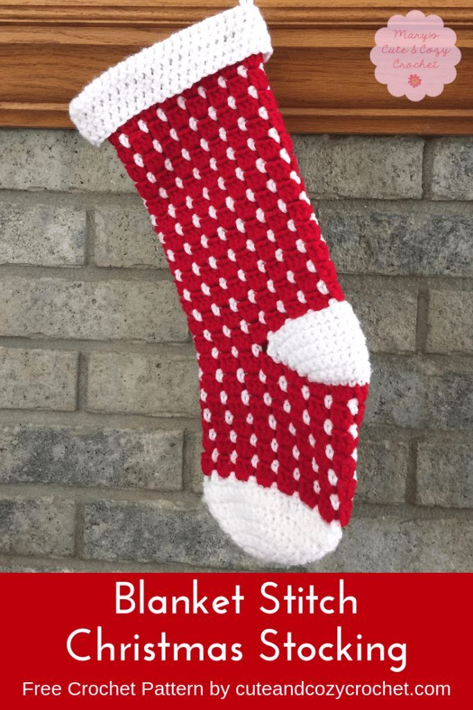 a09b4da67 Blanket Stitch Christmas Stocking